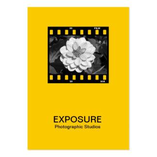 marco de película de 35m m 01 - ámbar plantilla de tarjeta de visita