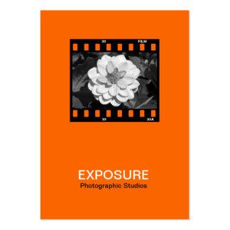 marco de película de 35m m 01 - naranja plantillas de tarjeta de negocio