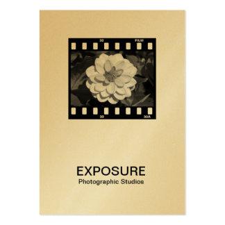 marco de película de 35m m 01 (oro) tarjetas de visita