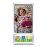 Marco de plata lindo de la foto con la flor - tarj tarjetas personales