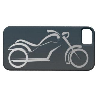Marco de plata negro fresco de la motocicleta iPhone 5 Case-Mate cárcasa