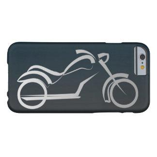 Marco de plata negro fresco de la motocicleta funda de iPhone 6 barely there
