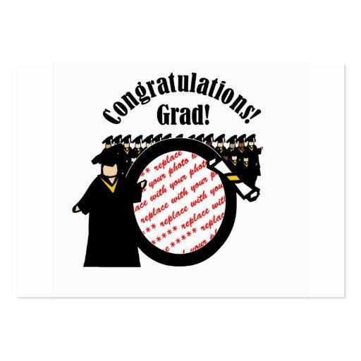 Marco de recepción graduado de la foto del diploma tarjetas de visita