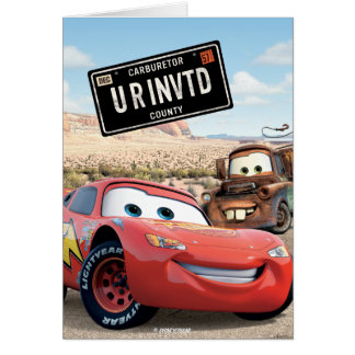 Marco de tarjeta de coches Disney