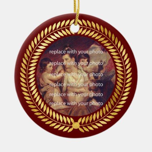 Marco decorativo de la foto ornamentos de reyes magos