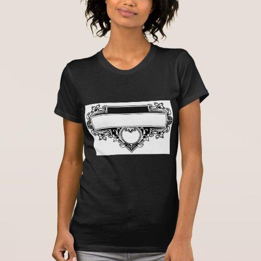 Marco decorativo del diseño gráfico camiseta