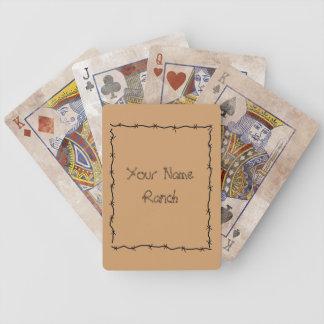 Marco del alambre de púas - occidental lindo diver baraja de cartas