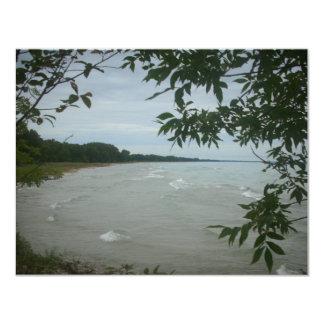 """Marco del árbol de la playa invitación 4.25"""" x 5.5"""""""