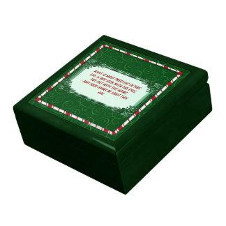 Marco del bastón de caramelo caja de recuerdo