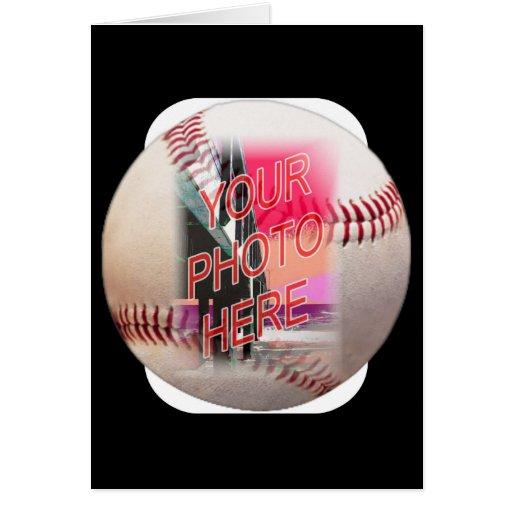 Marco del béisbol tarjeta de felicitación