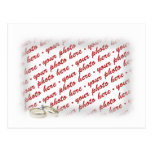 Marco del boda con los anillos tarjetas postales