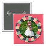 Marco del círculo de la diversión - caramelo del v pin