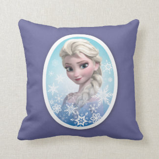 Marco del copo de nieve de Elsa el   Cojín