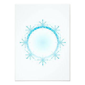 """Marco del copo de nieve invitación 5"""" x 7"""""""