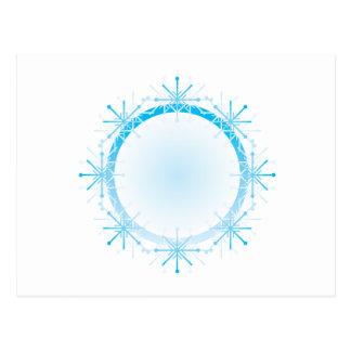Marco del copo de nieve tarjeta postal