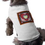 Marco del corazón de los conejitos grande camisetas mascota