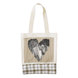 Marco del corazón del diamante bolsa tote zazzle HEART