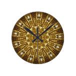 Marco del espejo relojes de pared