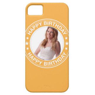 Marco del feliz cumpleaños en amarillo funda para iPhone SE/5/5s