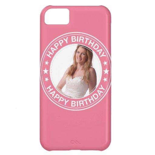 Marco del feliz cumpleaños en rosa