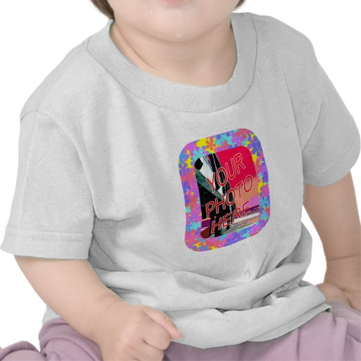Marco del flower power camisetas