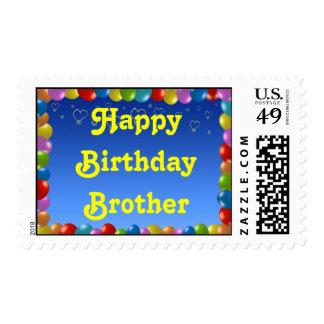 Marco del globo de Brother del feliz cumpleaños Sellos