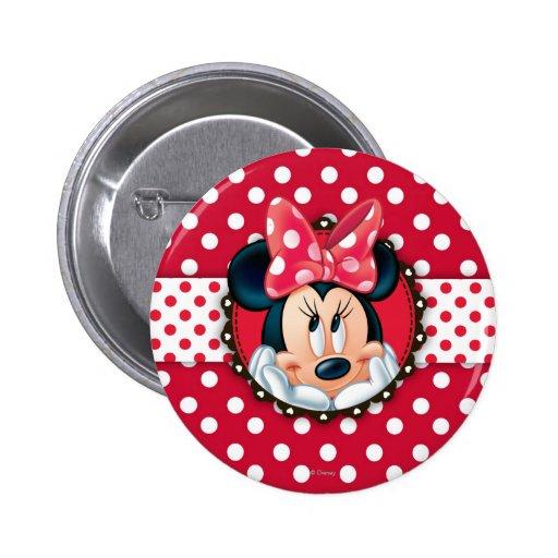 Marco del lunar de Minnie Pin Redondo 5 Cm