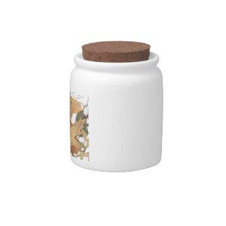 Marco del mosaico de las hojas de otoño jarra para caramelo