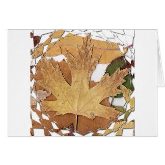 Marco del mosaico de las hojas de otoño tarjetón