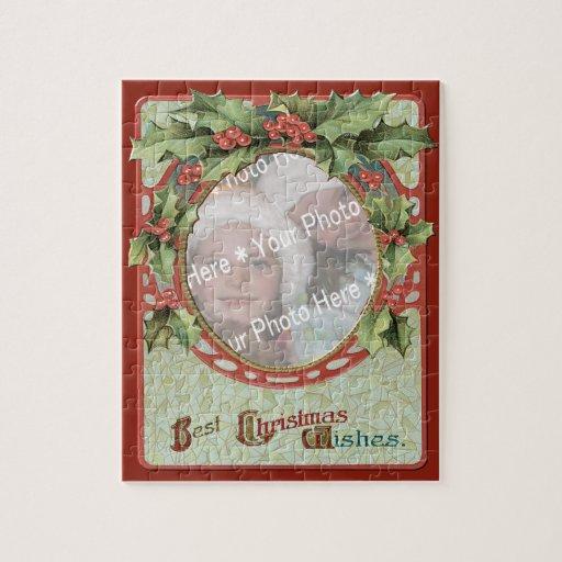 Marco del navidad de la Añadir-UNO-Foto de la Puzzles Con Fotos