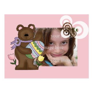 Marco del oso de Pascua - Customzied Tarjeta Postal