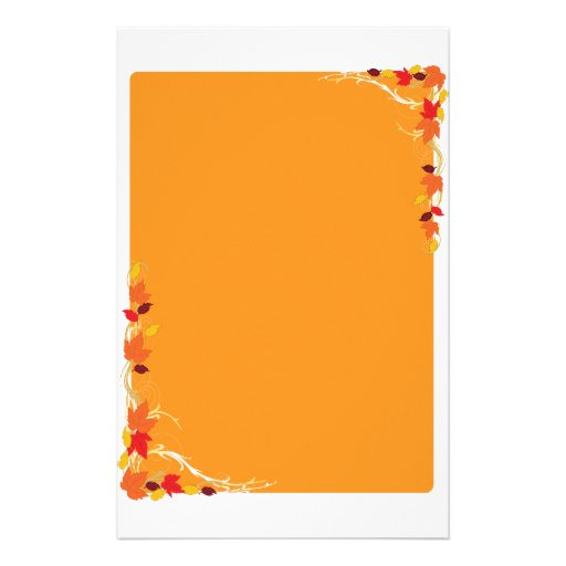 Marco del otoño papeleria