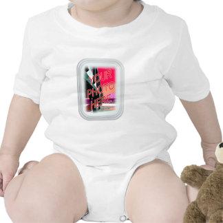 Marco del rectángulo del vidrio esmerilado traje de bebé