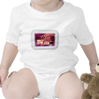 Marco del rectángulo del vidrio esmerilado trajes de bebé
