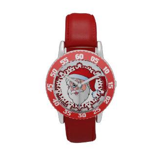 marco del rojo de santa reloj de mano
