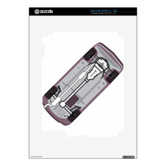 Marco del vehículo skins para iPad 2