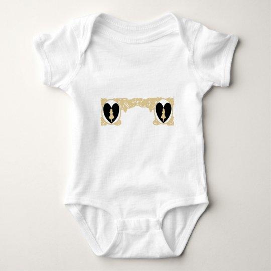 Marco del vintage de Alicia del amor en beige de Body Para Bebé