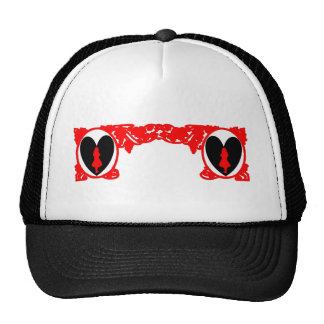 Marco del vintage de Alicia del amor en rojo Gorras
