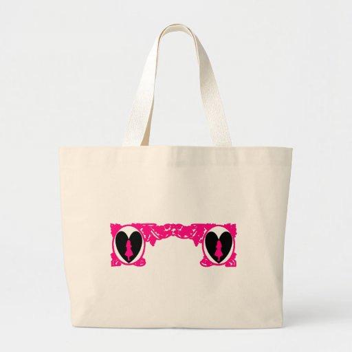 Marco del vintage de Alicia del amor en rosa magen Bolsa De Mano