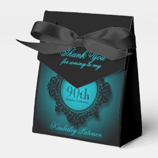 Marco del vintage en el azul - 90.a caja del favor cajas para detalles de boda