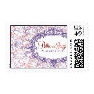 Marco del vintage sellos postales