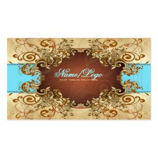 Marco elegante 2 del vintage de los tonos del oro tarjetas de visita