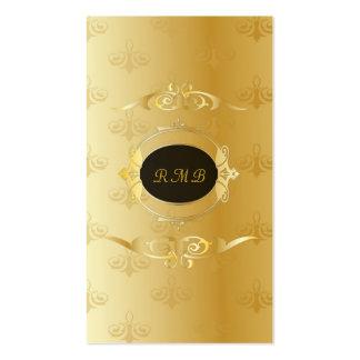 Marco elegante del cordón del oro del vintage del plantilla de tarjeta personal