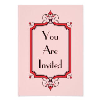 Marco elegante del Flourish Invitación 12,7 X 17,8 Cm