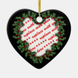 Marco en forma de corazón de la foto del navidad d