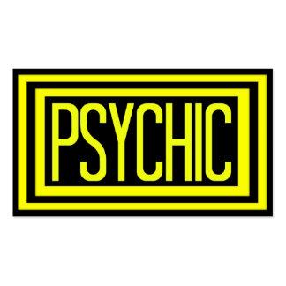 Marco enmarañado negro y amarillo psíquico tarjetas de visita