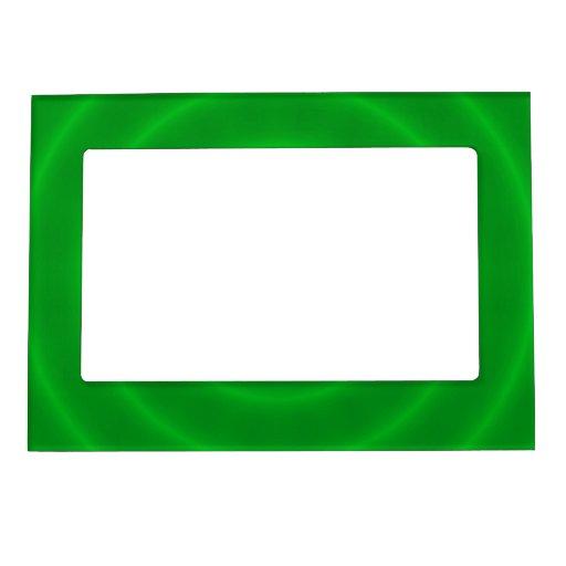Marco espiral verde de neón moderno de la foto marcos magneticos para fotos
