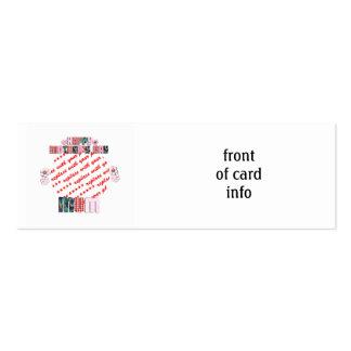 Marco feliz de la foto del día de madre de la tarjetas de visita mini