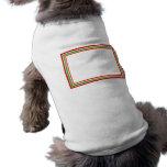 Marco festivo del Año Nuevo de tres rayas Camisetas De Perro