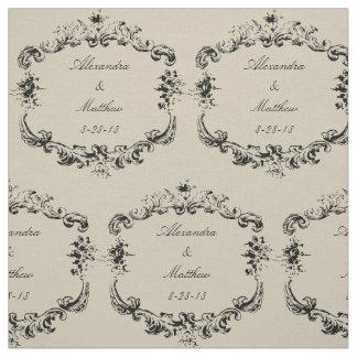 Marco floral del vintage personalizado telas